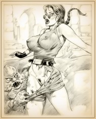 Big Tits drawings - nude Lara Croft - Adult Toons Big Tits Drawing Lara Croft Porn Drawings