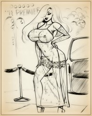 Big Boobs drawing for Jessica Rabbit fan - Adult Toons Big Tits Drawing Jessica Rabbit Porn Drawings