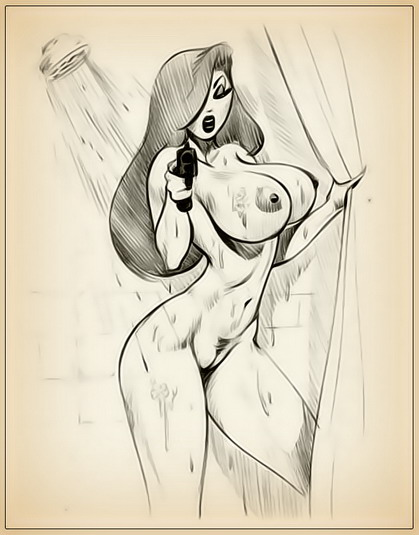 Big Boobs drawing for Jessica Rabbit fan